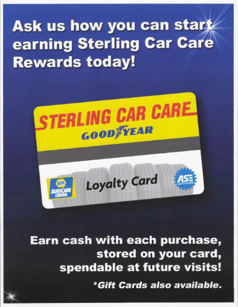 Sterling Car Care Rewards Card